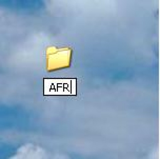 Type the name of the new folder