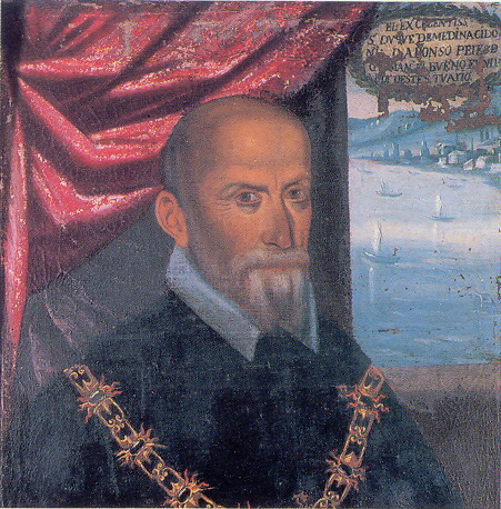 This is Alonso Perez de Guzman, the Duke of Medina Sidonia.