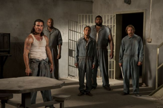 The inmates in season 3 of The Walking Dead