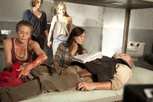 The women trying to save Hershel in season 3 of The Walking Dead
