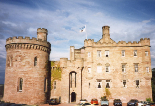 Dalhousie Castle, Edinburgh - now a hotel and one of the most haunted!