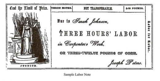 A 19th-century example of barter: