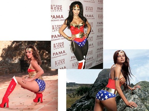 Wonder Woman Cosplay Costume Models