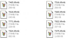 The ITHMB files represent the optimized photos. There are no native programs on your computer that can view these files.