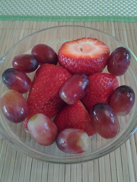 Grapes and Berries for Snacks