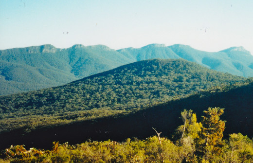 Wide View Showing Escarpments