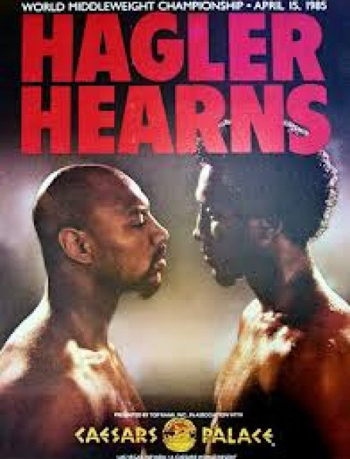 Marvelous Marvin Hagler vs. Tommy The Hitman Hearns. The two warriors traded bombs for three rounds.