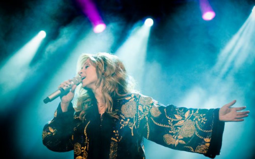 Lara Fabian performing in Slovakia. March 13th, 2012
