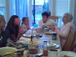 Dining together as a family is important.