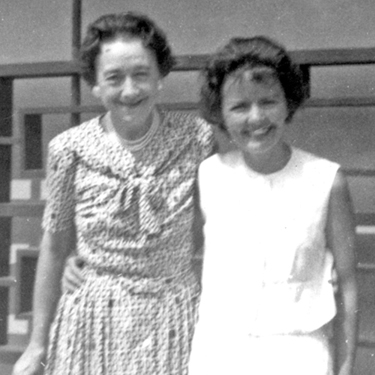 Mom, Yvonne Beatrice Adie, with her mother, Cecilia Cunningham