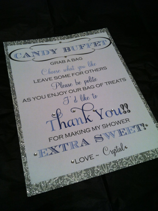 Candy Buffet Sayings Baby Shower | just b.CAUSE