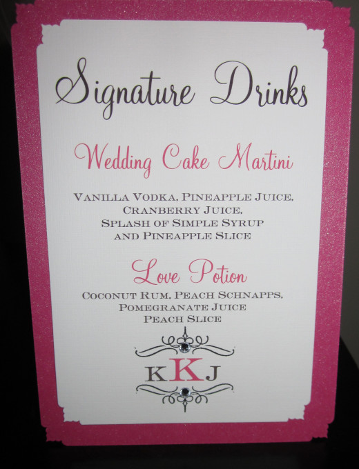 Naming your signature cocktail can be a fun highlight in planning your wedding — or, if you put too much pressure on yourselves to be clever and cute, it can be kind of stressful, says Amy.