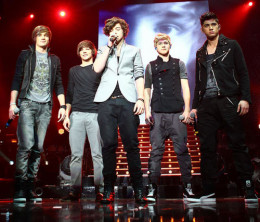 Popular One Direction on the UK X Factor Stage