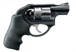 This is the Ruger LCR or Light Compact Revolver. Excellent for concealed carry in a bag, ankle or other snag prone area. Comes in various calibers.