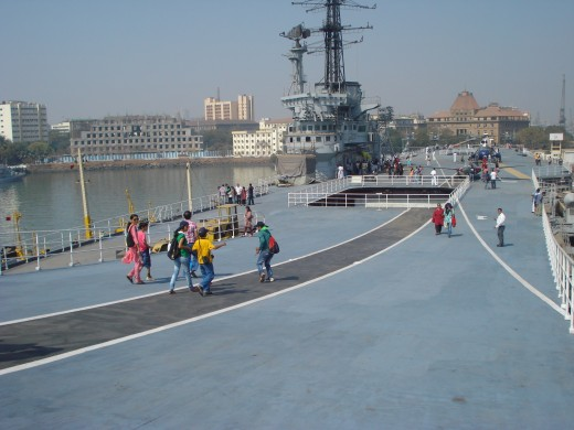 On the deck of the INS Vikrant