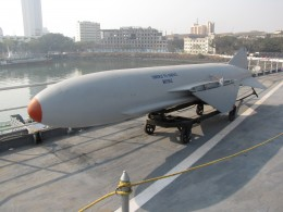 surface to surface missile on INS Vikrant