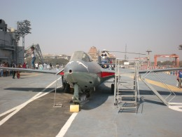 The sea harrier on the ship
