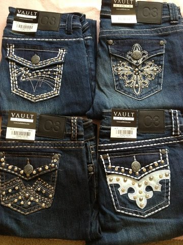 Vault Denim jeans are designer jeans sold at a discounted price!  They turn an outfit into a fashion statement!