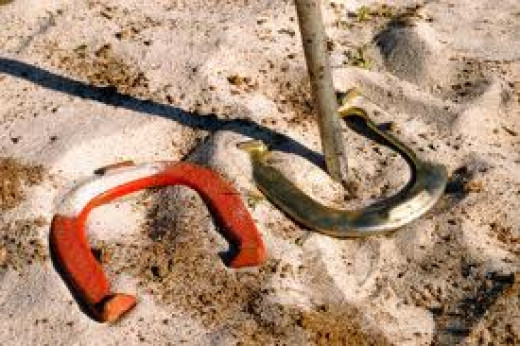 Horseshoes are great fun to play with your family and friends. You can play one on one or in a tournament with a group of people.
