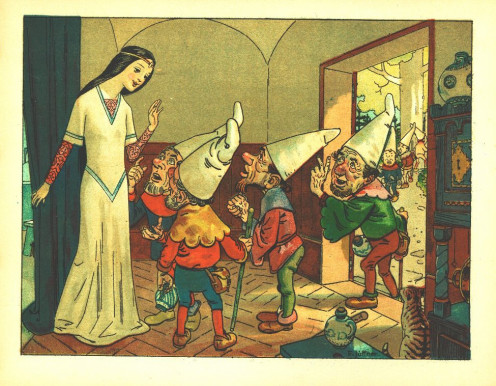 "Illustration from ""Little Snow White."""