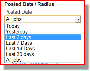 Change the Job Posted date