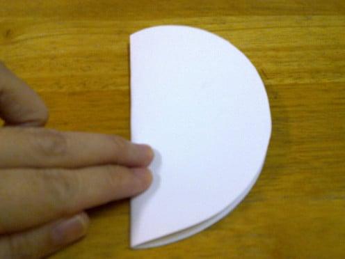fold the circle into half