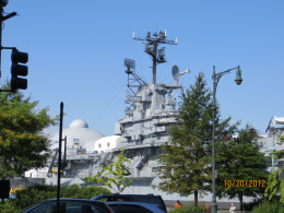 Our first view of the Intrepid at Pier 86