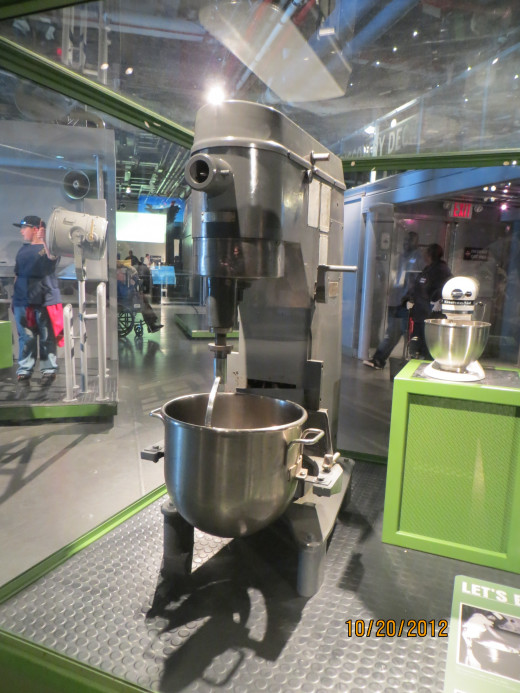 This mixer, among other things, was used to scramble 500 dozen eggs a day