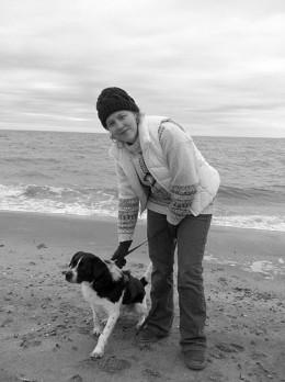 Enjoying the beach in March.