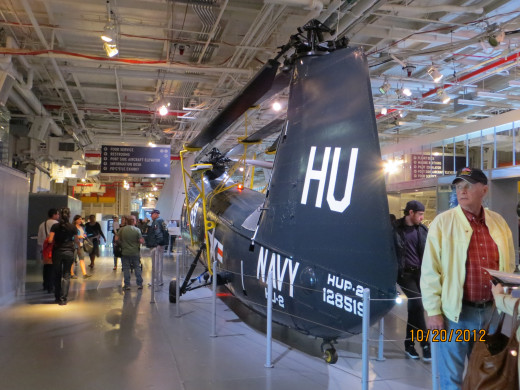Another helicopter inside the Intrepid