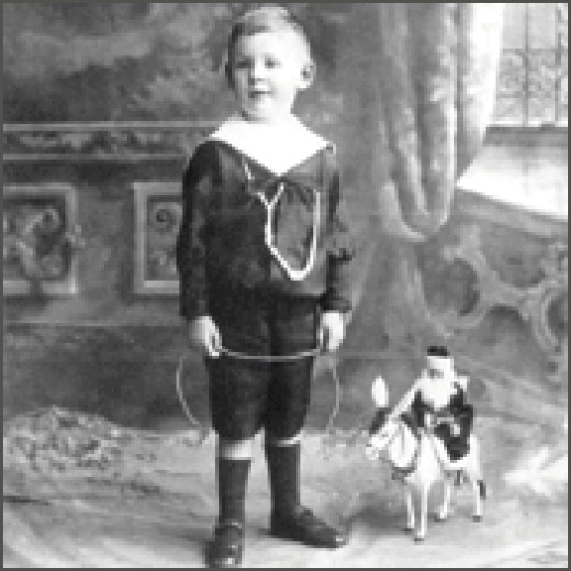 C. S. Lewis as a boy