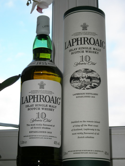 Bottle of 10 years old Lafroaig