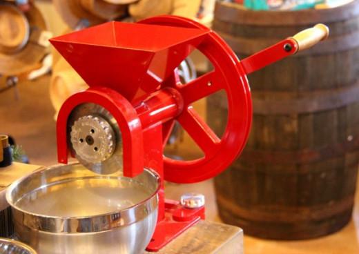 GrainMaker hand crank grain mill