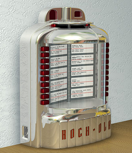 Rock-Ola Wallmount Jukebox 1953 Model