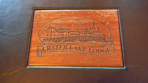 The menu for the Crater Lake Lodge restaurant--a trip to remember.