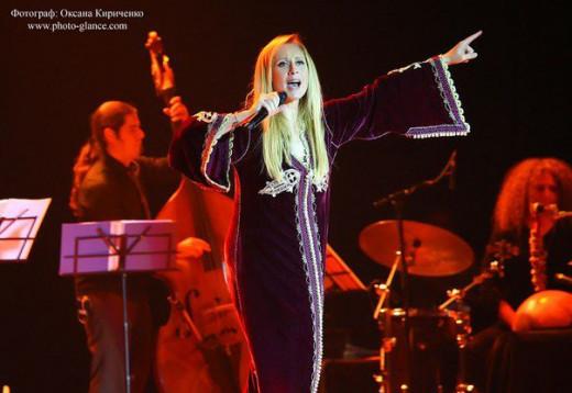 Lara Fabian performing in Donetsk, Ukraine. October 23rd, 2012