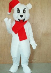 Mascot Christmas Bear Costume
