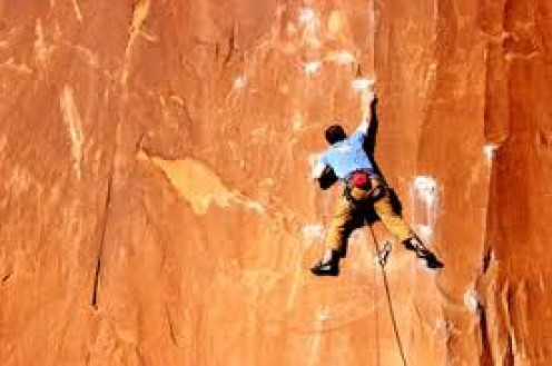 Rock Climbing is an extreme sport to say the least. Safety gear is very important because if you fall without protection then it's likely going to be fatal.