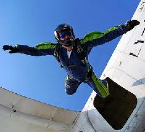 Skydiving will cure your fear of heights. Always have two parachutes. One extra just in case for a back up. Safety is the number one priority so check all safety gear before attempting to jump.