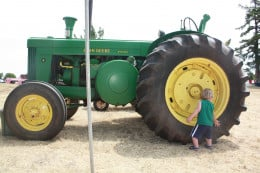 Kids love all things transportation, the bigger the wheels the better.