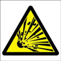 """CHEMICALS THAT EXPLODE:The abbreviation for this symbol is """"E"""" and this symbol is associated with chemical's that explode"""