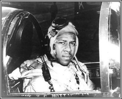 Ensign Jesse LeRoy Brown in a F4U-4 Corsair fighter, circa 1950