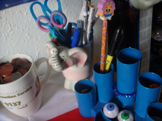 pencil holders make things tidy!
