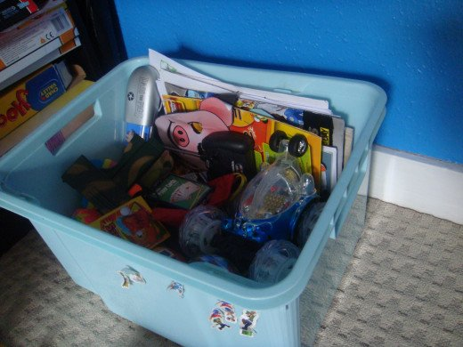 make use of storage boxes