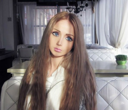 Valeria Lukyanova with full makeup
