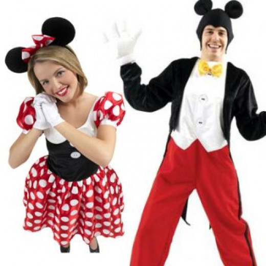 Regular Mickey and Minnie Costumes