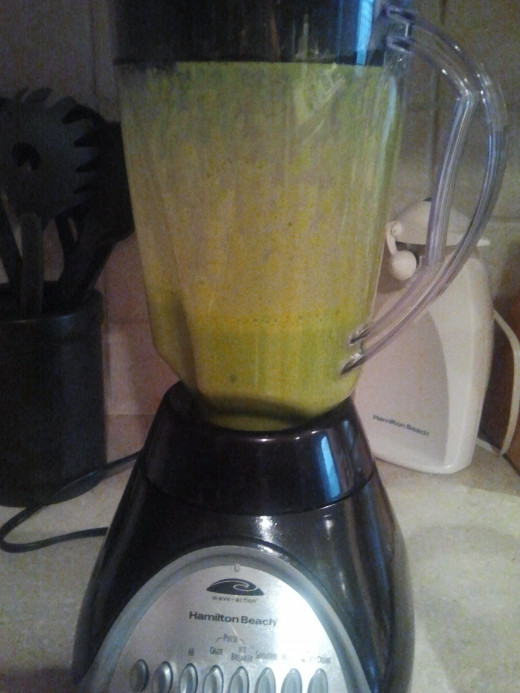 After step 2 the smoothie will be green