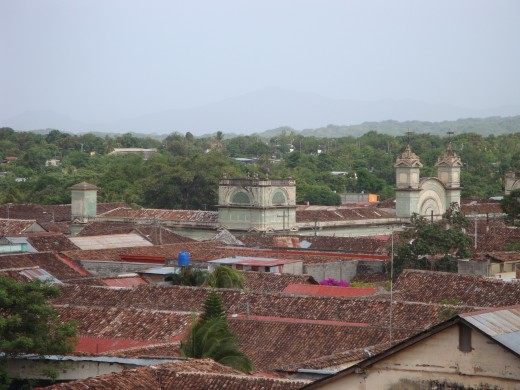 Looking southeast from the steeple of the Iglesia de la Merced.