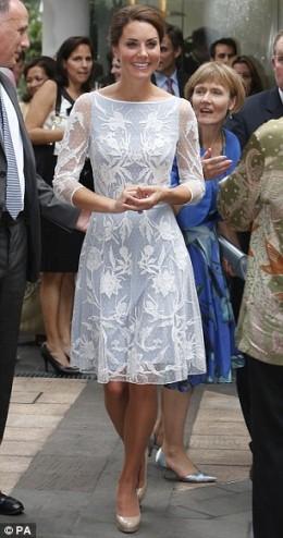 Kate in Alice Temperley dress