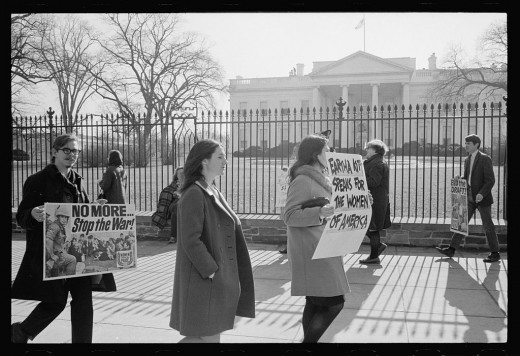 Protestors at the White House